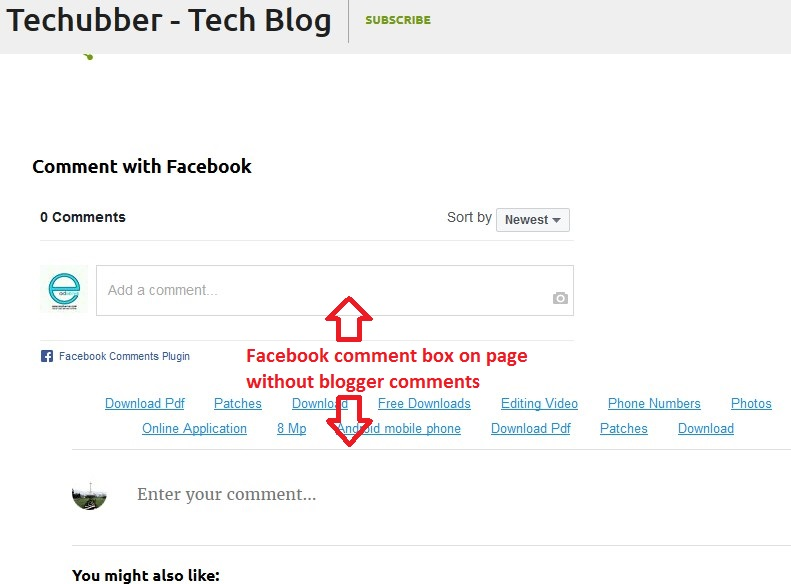 How to integrate Facebook comments on single blog post of