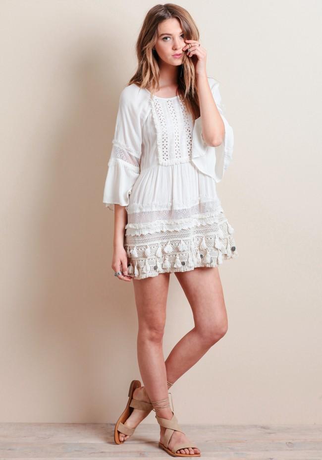 OUTFIT DEL Du00cdA White dress outfit - Look con vestido blanco estilo hippie