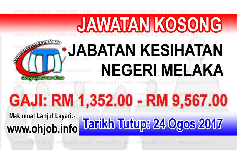 Jawatan Kerja Kosong Jabatan Kesihatan Negeri Melaka - JKN Melaka logo www.ohjob.info ogos 2017