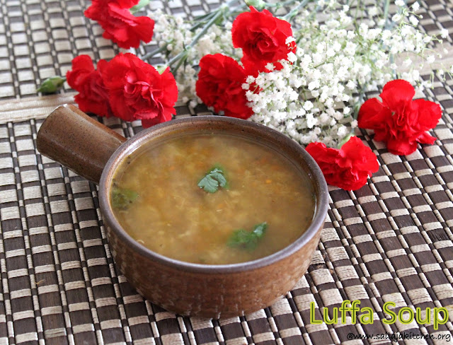 images of Luffa Soup / Nethi Beerakaya Soup / Peerkangai Soup - Healthy Soup Recipes