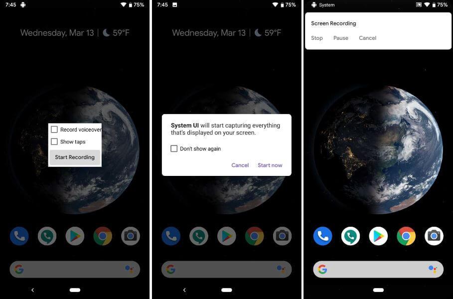 8 Fitur Terbaik Yang Dihadirkan Di Android Q Sejauh Ini - Perekam Layar