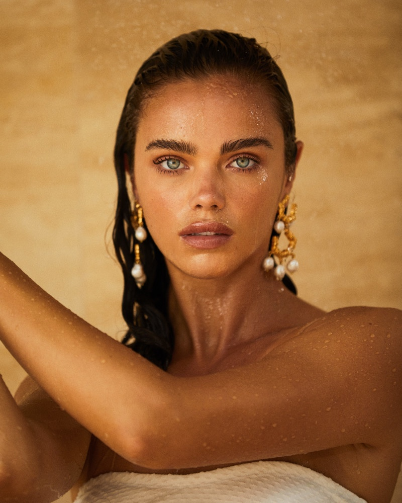 Christie Nicolaides enlists model Jena Goldsack for Villa Vera campaign