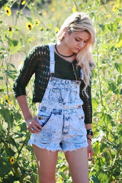 NYCT Distressed Denim Overalls