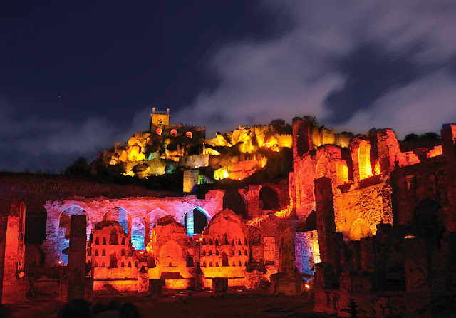 Light and sound show in Golconda Fort