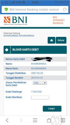 Cara Blokir ATM BNI Lewat Internet Banking