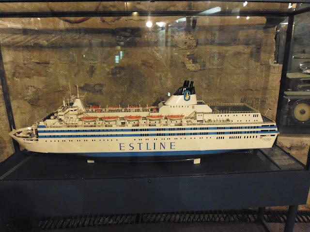 "Maqueta a escala del barco ""Estonia"""