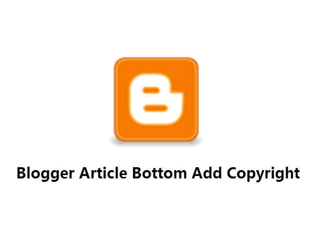 Blogger 文章底部自動加入版權宣告_001