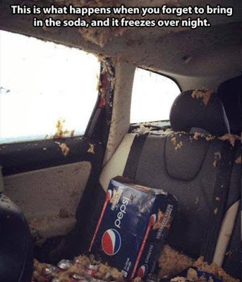 dont leave your pop in the car overnight