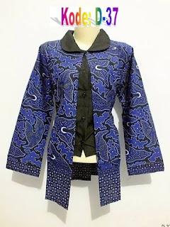 Baju Batik Guru 2 Motif Lengan Panjang