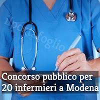 concorso pubblico per infermieri a modena