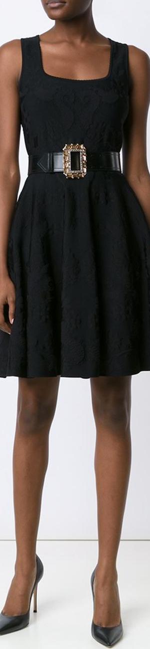 Alexander McQueen Jacquard Corset Knit Dress