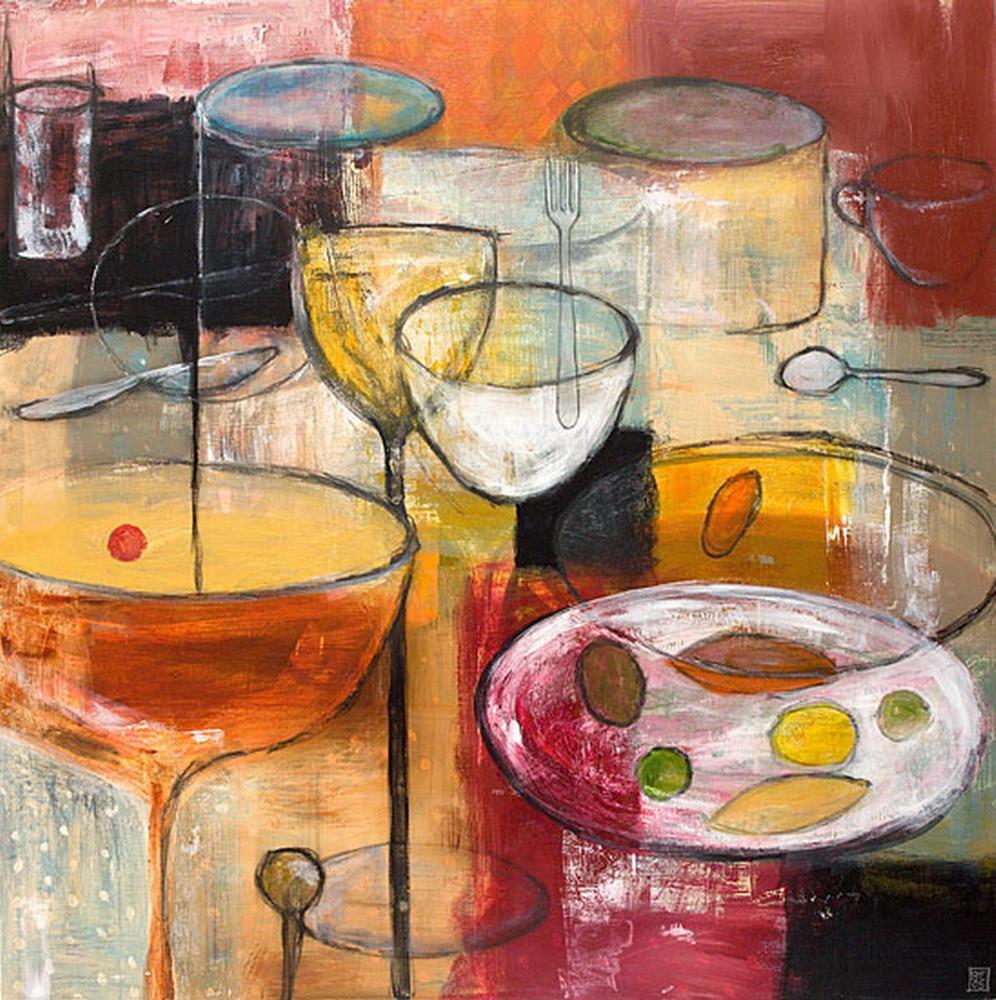 cuadros modernos con comida bodegones de sara huxley