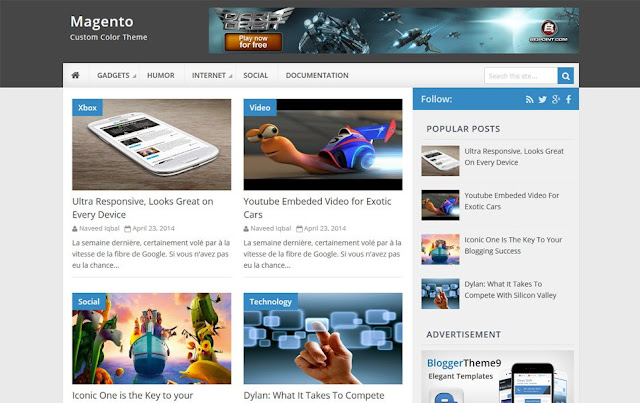 Magento-Responsive-Blogger-Template