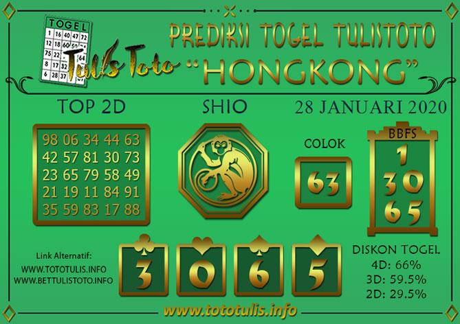 Prediksi Togel HONGKONG TULISTOTO 28 JANUARI 2020
