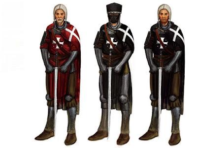 Tiga Ordo baju besi keran pedang eropa Perang Salib : Ksatria Hospitaller saingan Templar