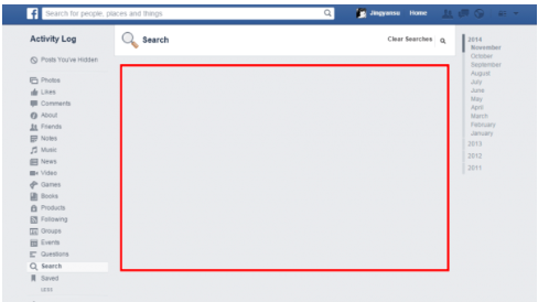 How To Erase Facebook Search