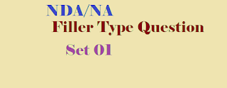 Practice Set 01 NDA/NA Filler type Questions