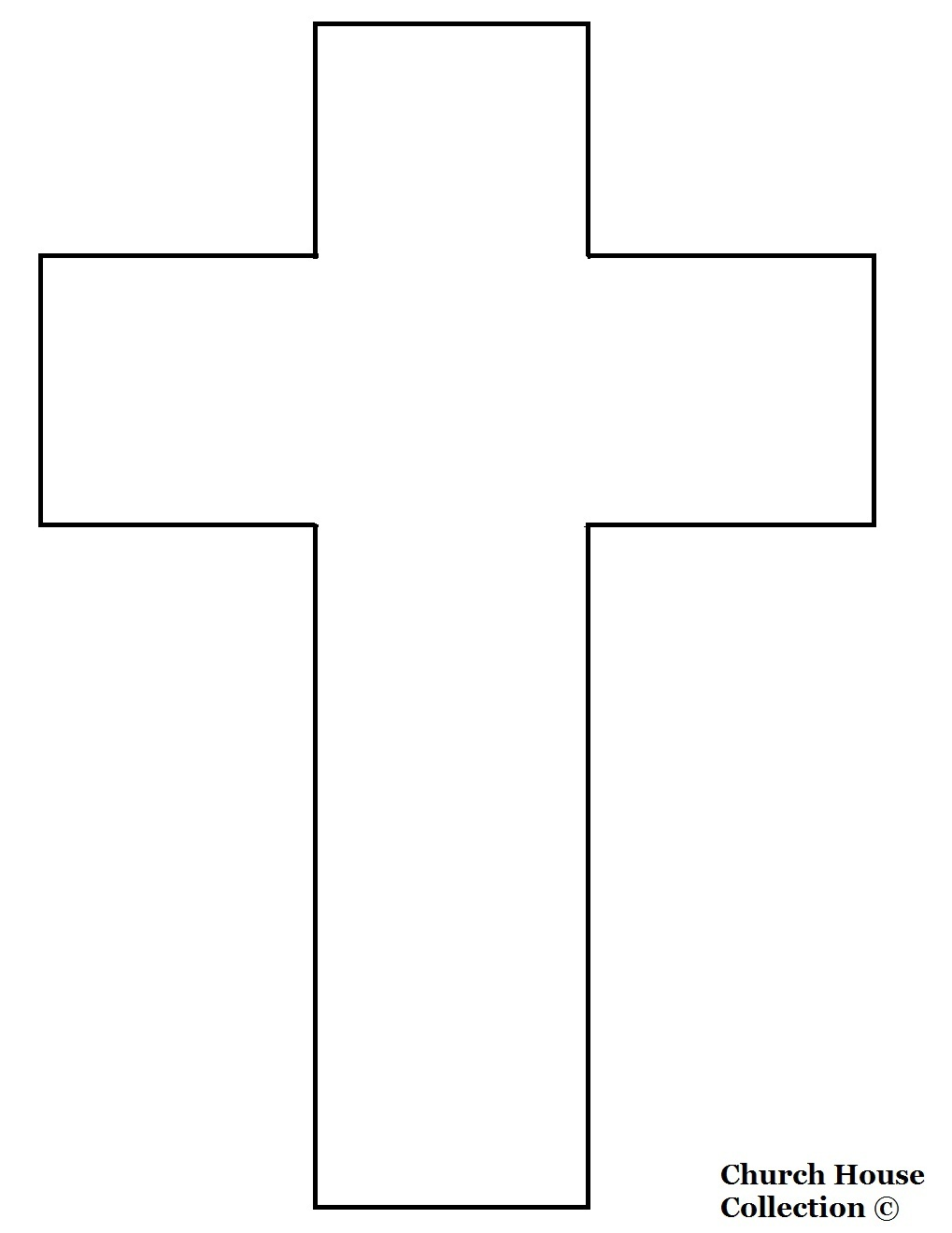 Church House Collection Blog: Jesus Died On A Cross Cutout ...