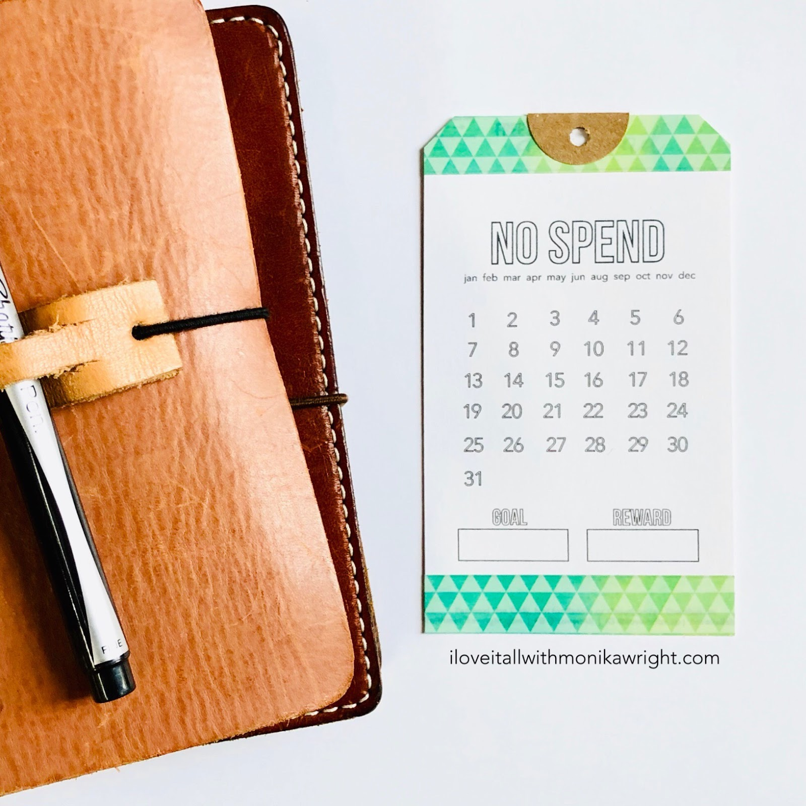 #no spend #tracker #printable #no spend tracker #budget #budgeting #monthly #no spend month #journal card #planner