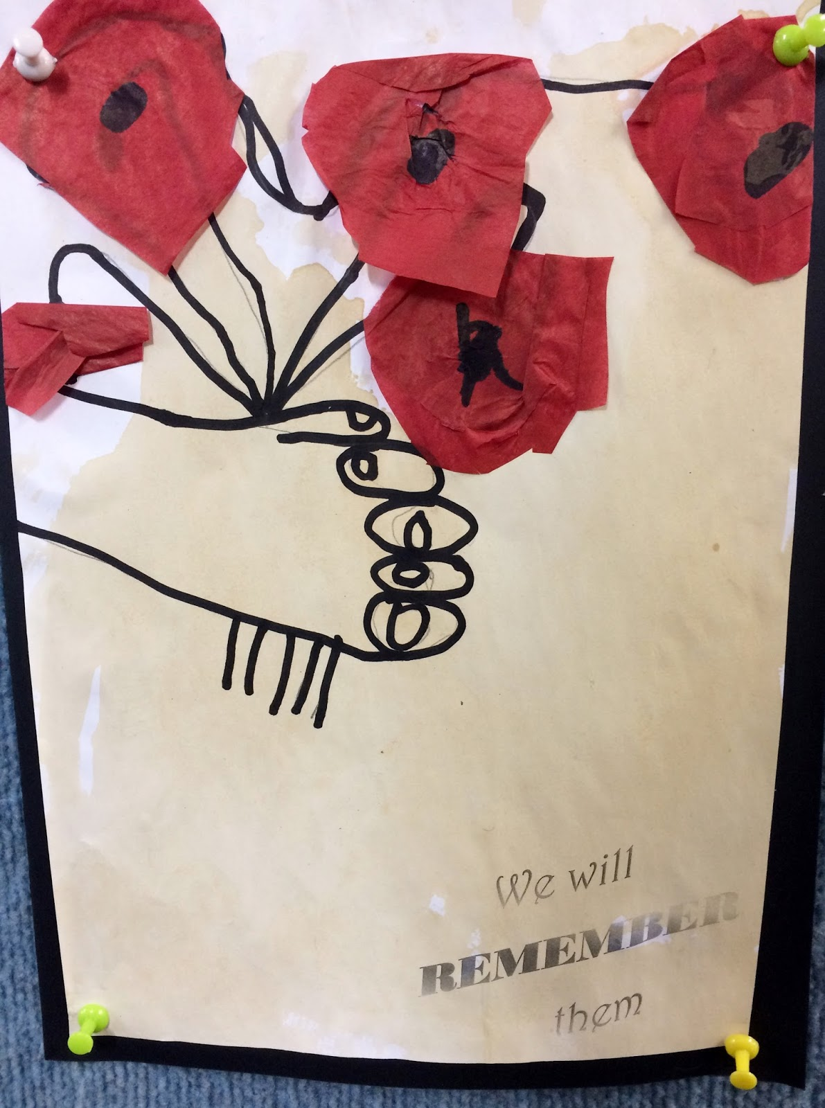 art with mrs baker anzac day picasso poppies
