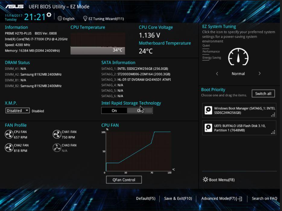 さえないオジサン: PC買い替え その8 ASUS PRIME H270-PLUS BIOS設定