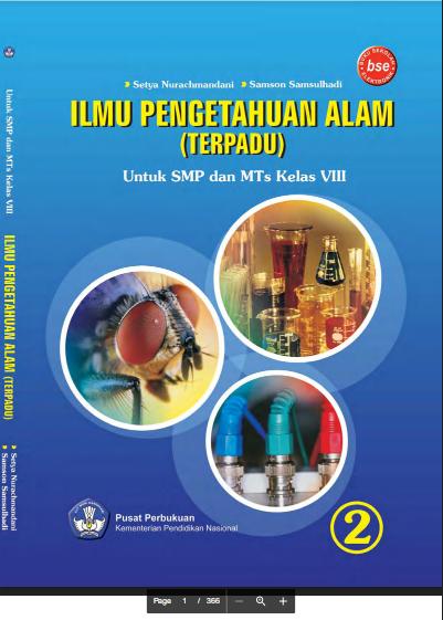 Download Buku Siswa KTSP SMP dan MTs Kelas 8 Ilmu Pengetahuan Alam (Terpadu)