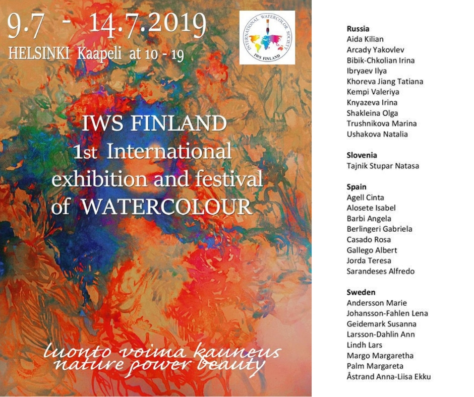1st- International exhibition and festival of watercolour- Finland