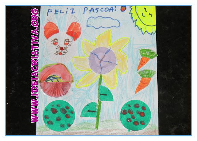 Fazendo Arte com Formas de Brigadeiro Atividade de Páscoa