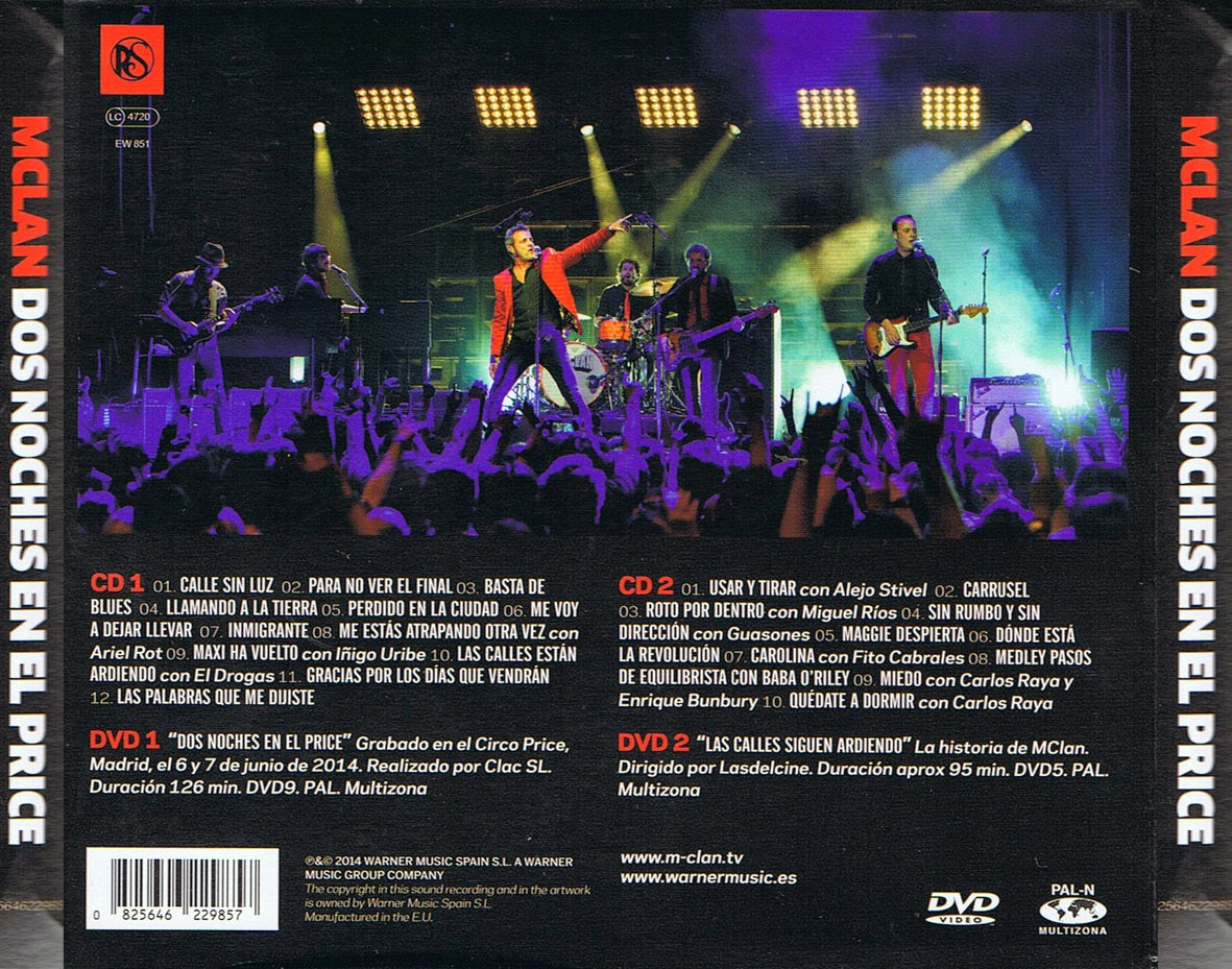 M-Clan (2014) Dos Noches En El Price | En Vivo Mucho Mejor