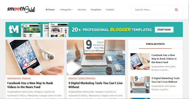 Smoothgrid - Template Blog Simple Sederhana Gratis