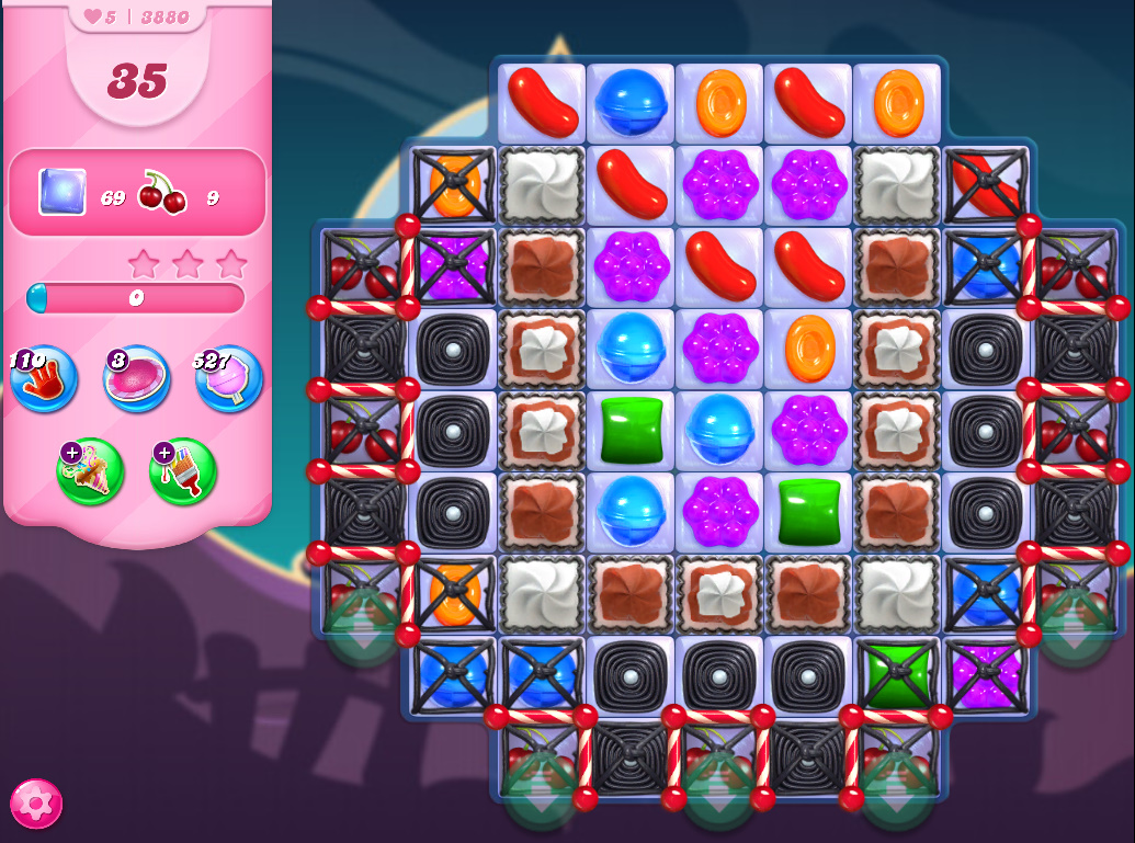 Candy Crush Saga level 3880
