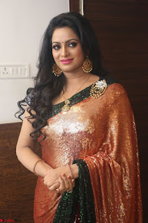 Udaya Bhanu lookssizzling in a Saree Choli at Gautam Nanda music launchi ~ Exclusive Celebrities Galleries 051.JPG