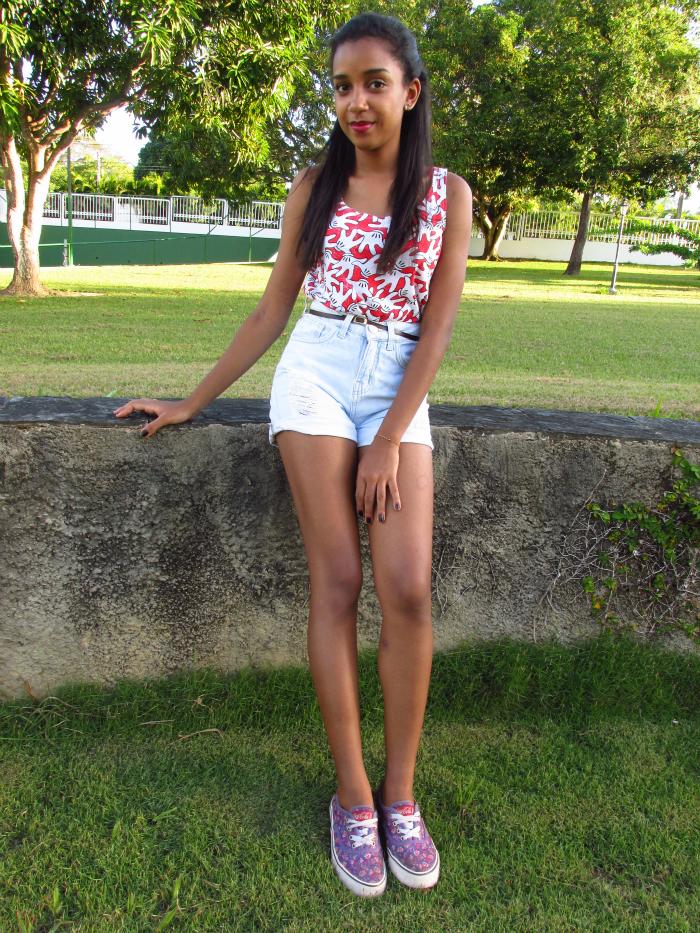 Look short com tênis