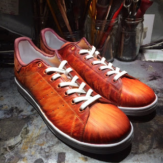 3 Patine orange Hermes on stan smith adidas by paulus Bolten