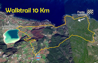 Trail maps for Ecotrail Pantelleria 2019 race: Walktrail, Gelfiser, and 50k.