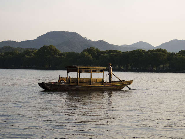 Boat on Hangzhou China's West Lake