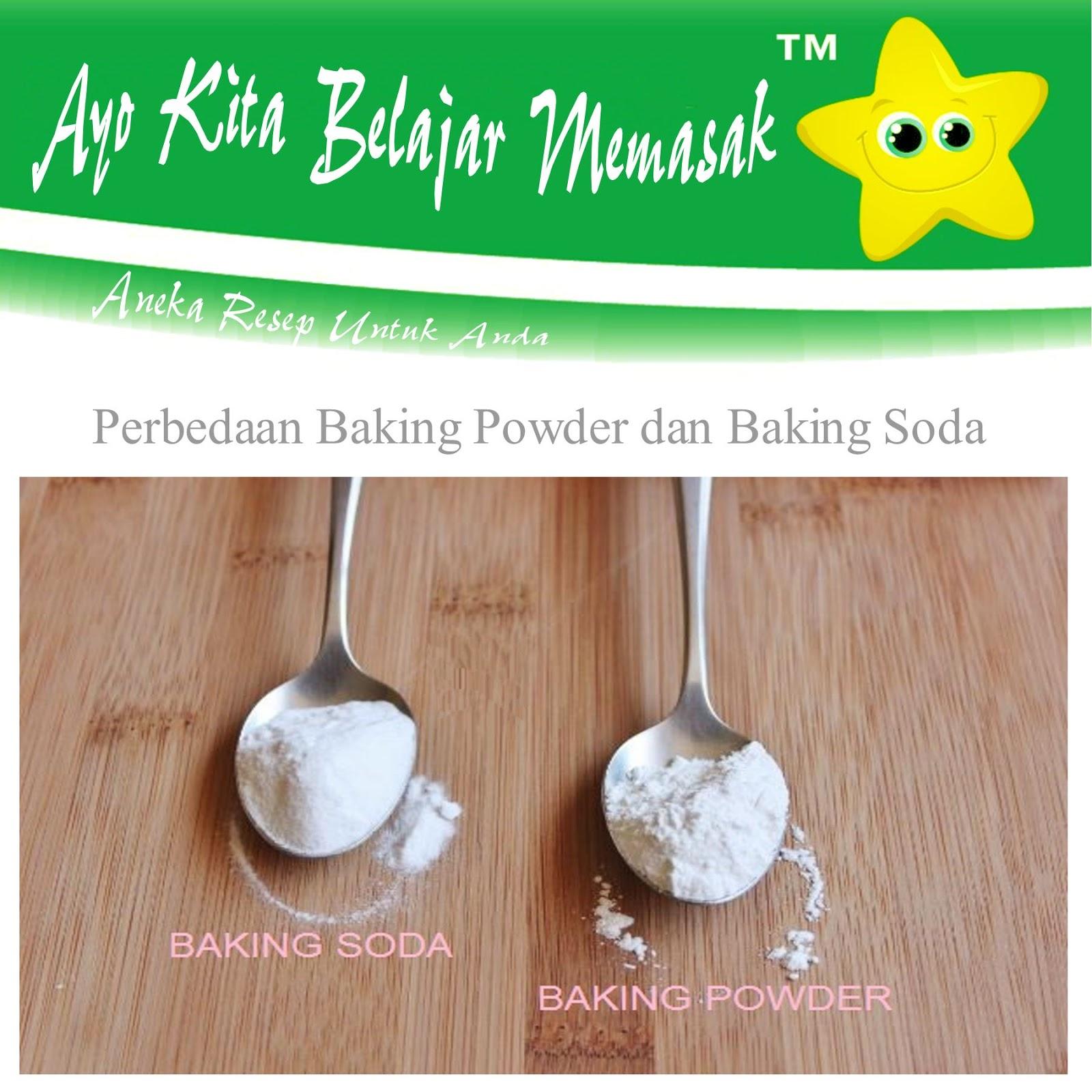 Perbedaan Baking Powder Dengan Soda Kue Baking Soda