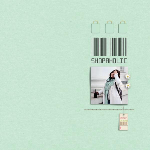 shopaholic © sylvia • sro 2017 • dandelion dust designs • shopaholic