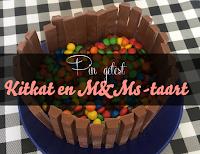 Pin getest - Kitkat en MMs taart