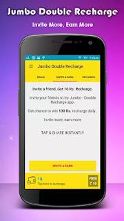free recharge from Jumbo Double Recharge app