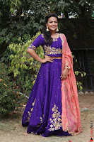Actress Shraddha Srinath in Purple Chania Choli Cute Pics ~  Exclusive 11.jpg