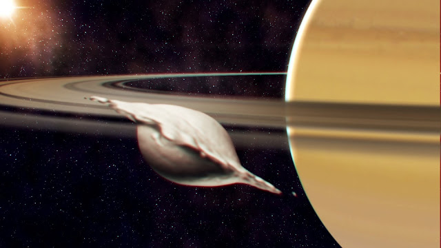 How small inner moons of Saturn were formed