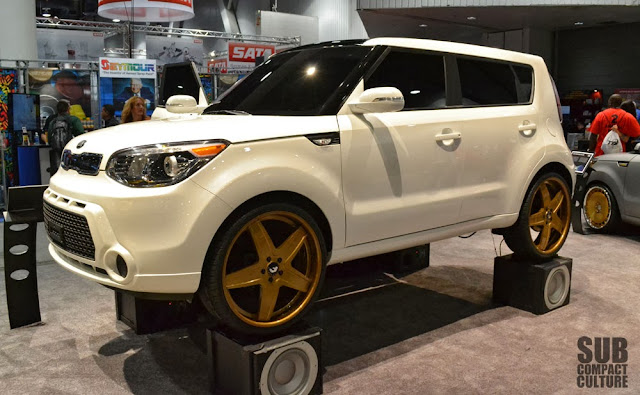 "The 2014 Kia ""Amped"" Soul on 22"" wheels/tires."