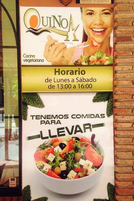 Quinoa restaurante vegetariano - Elche - Opening times