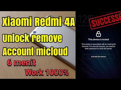 Pada peluang kali ini admin akan menerangkan ihwal cara menangani terkunci akun Mi C Cara Remove Akun Mi Cloud pada Xiaomi Redmi 4A (Rolex) 100% Berhasil