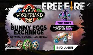 Cara Mendapatkan Green Egg Free Fire di Event Wonderland FF