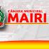 Presidente da Câmara de Vereadores de Mairi suspende a sessão que seria realizada nesta sexta-feira