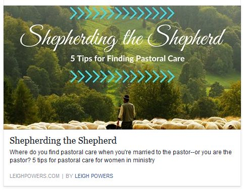 image link to article on pastoral care for pastors' wives