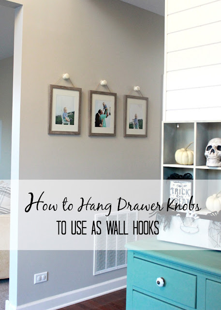 How To Hang Drawer Knobs To Use As Wall Hooks