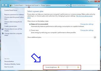 Cara Mengatur Kecerahan Layar Laptop di Windows 7
